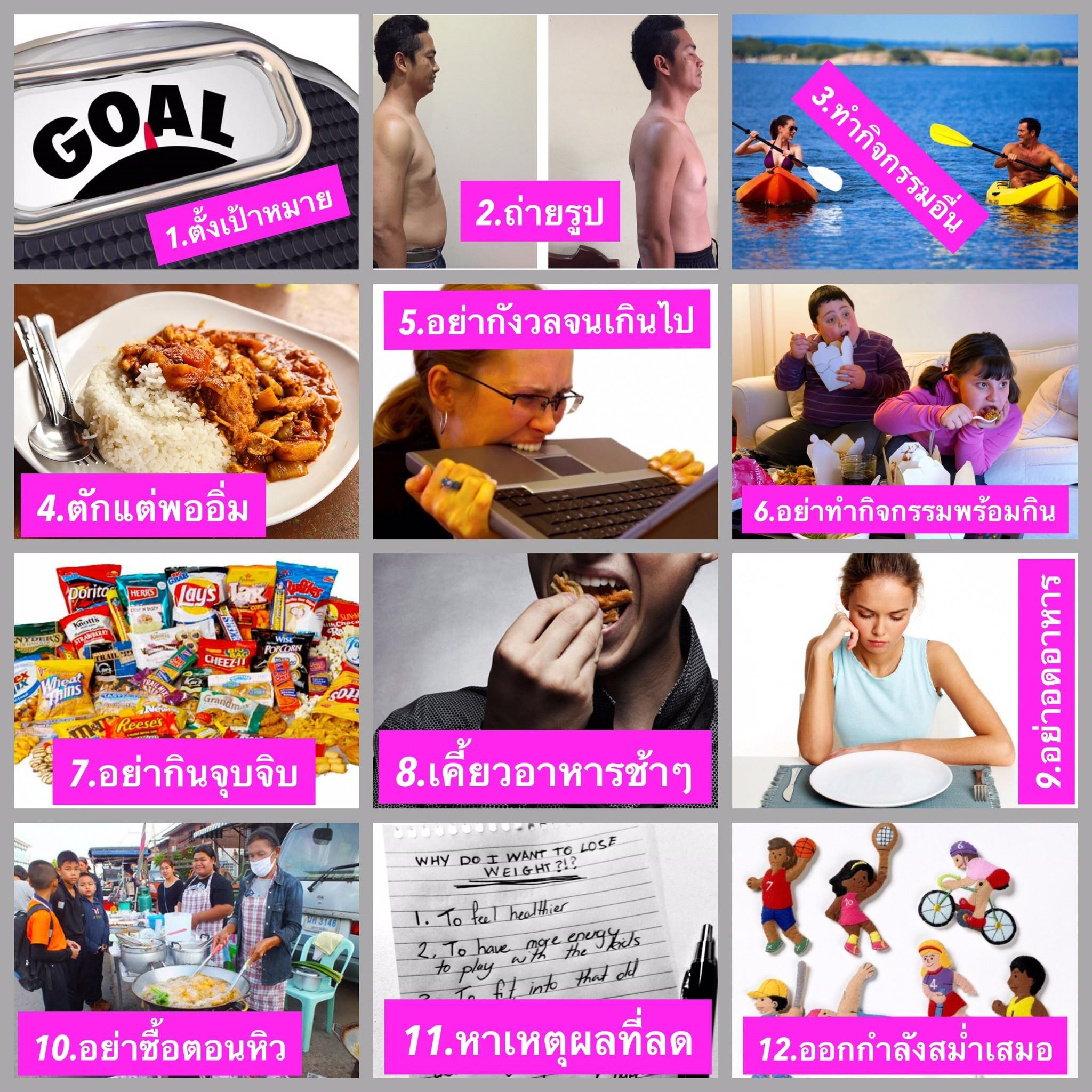 12 เคล็ดไม่ลับ ของการลดน้ำหนัก